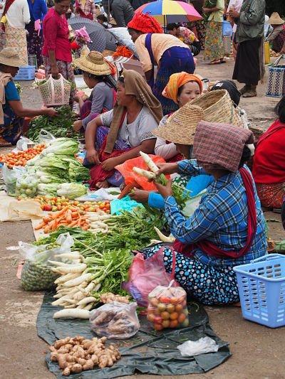 Mercado Kalaw Myanmar-Birmania