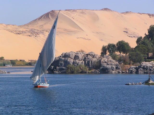 Faluca en el Nilo