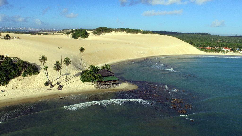 Playa de Jenipabu en el Norte