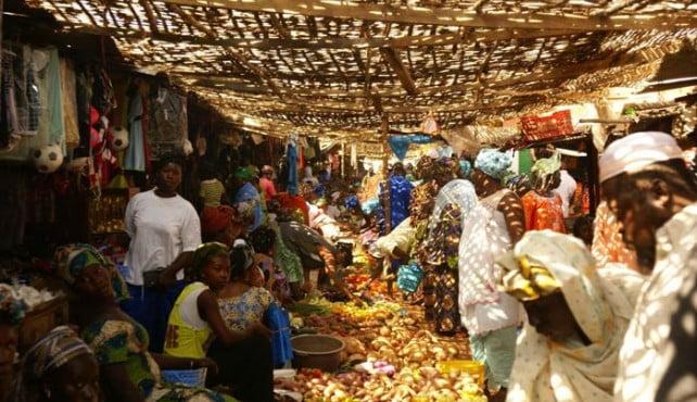 Mercado en Senegal