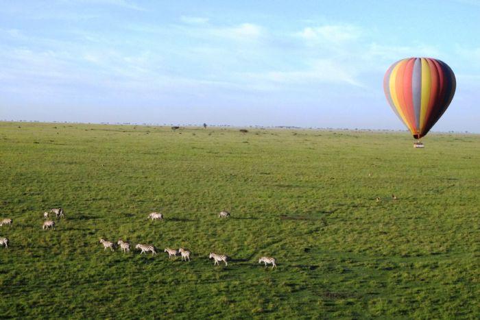 Kenia en globo